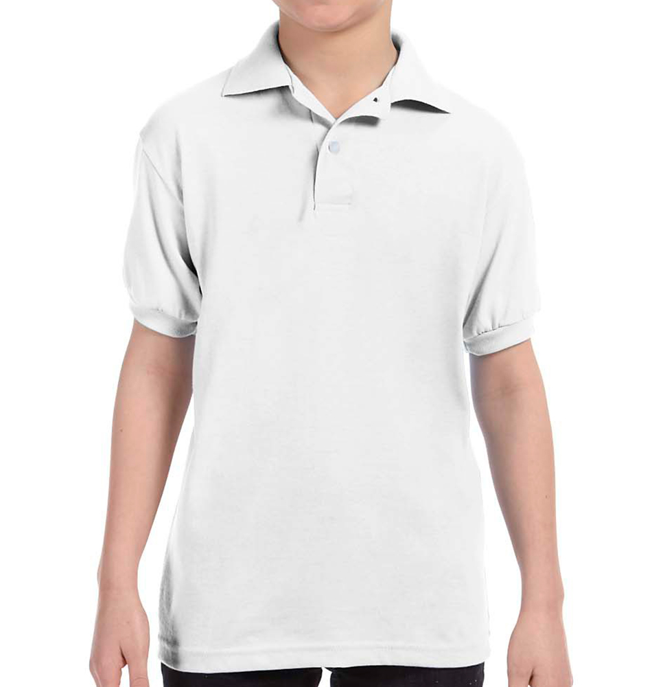 Hanes Youth 5.2 oz., 50/50 EcoSmart® Jersey Knit Polo