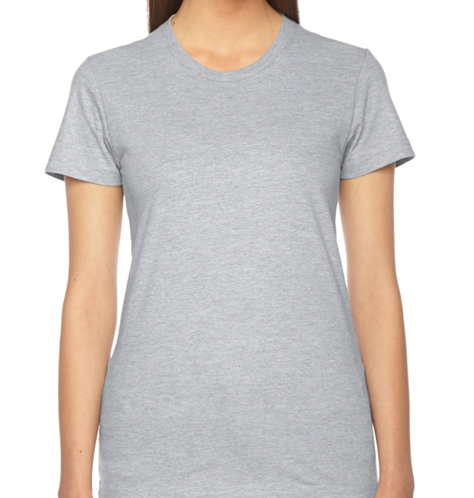 American Apparel Women's Fine Jersey Short-Sleeve Shirt