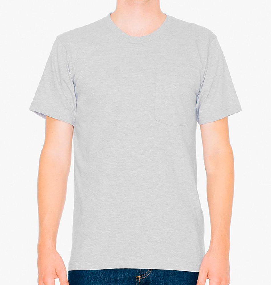 American Apparel Fine Jersey Pocket T-Shirt