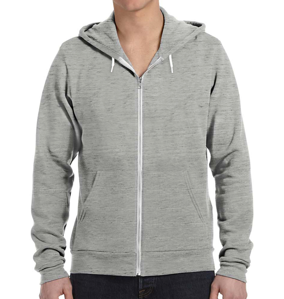 Bella + Canvas Fleece Zip Up Hoodie