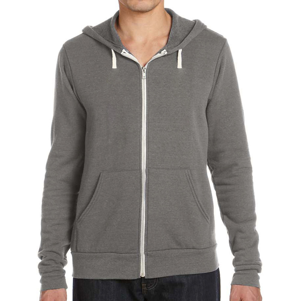 Bella + Canvas Tri-blend Fleece Zip Up Hoodie