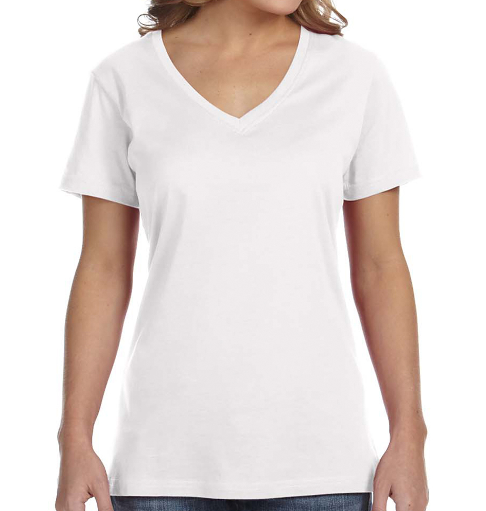 Anvil Women's Featherweight V-Neck T-Shirt
