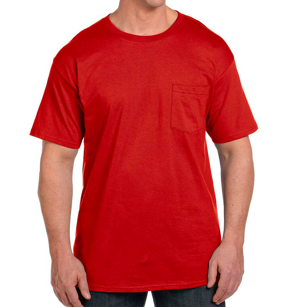 Hanes Beefy-T® with Pocket