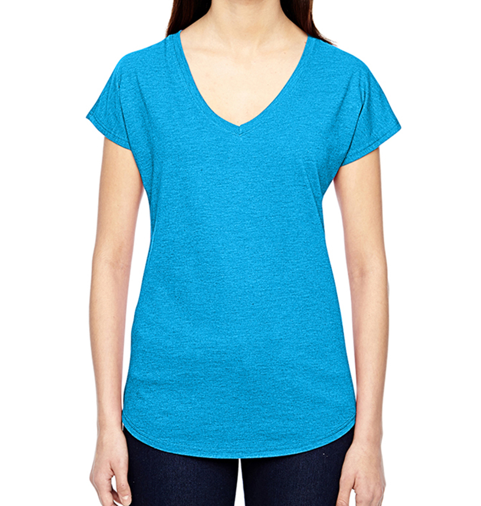 Anvil Tri-Blend Women's V-Neck T-Shirt
