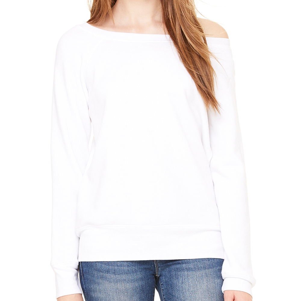 Bella + Canvas Women's Wide Neck Sweatshirt