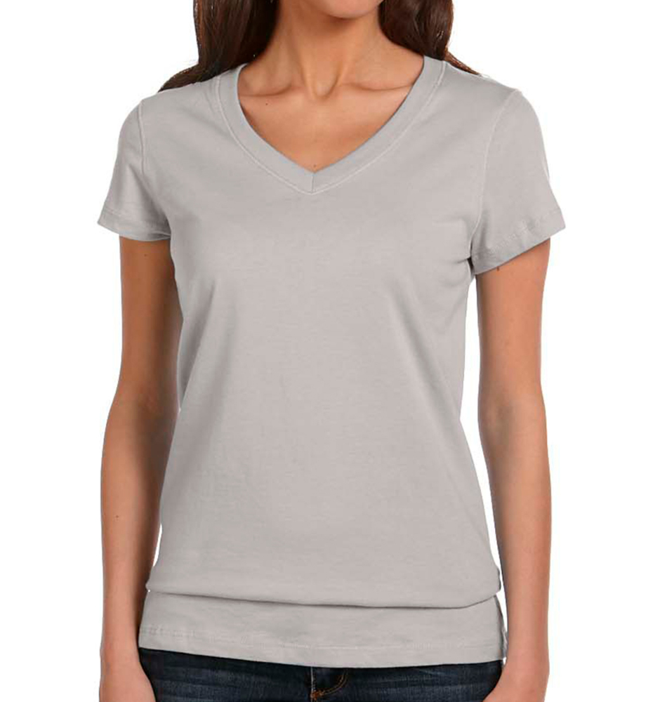 Bella + Canvas Women's Cotton V-Neck T-Shirt