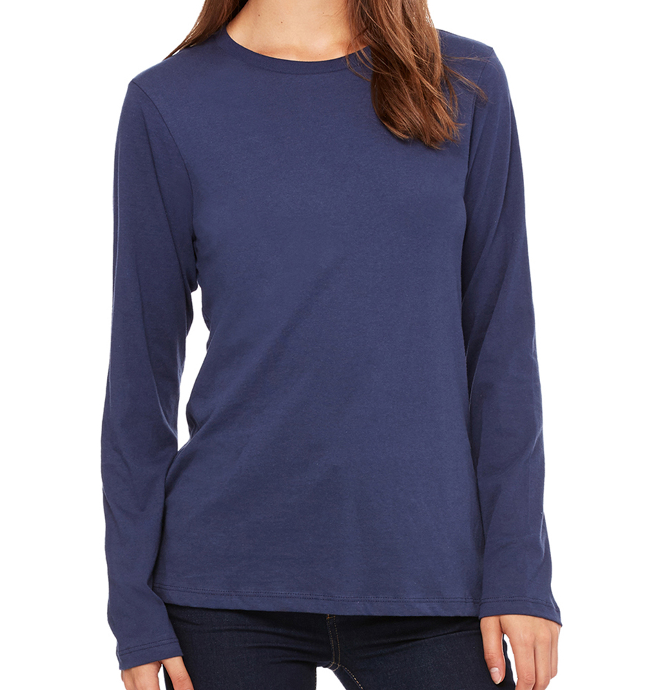 Bella + Canvas Women's Relaxed Jersey Long-Sleeve Shirt