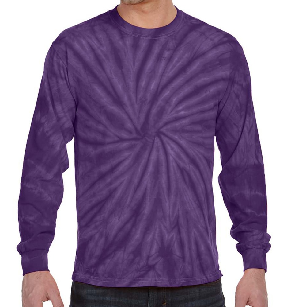 Cotton Long Sleeve Tie-Dye Shirt