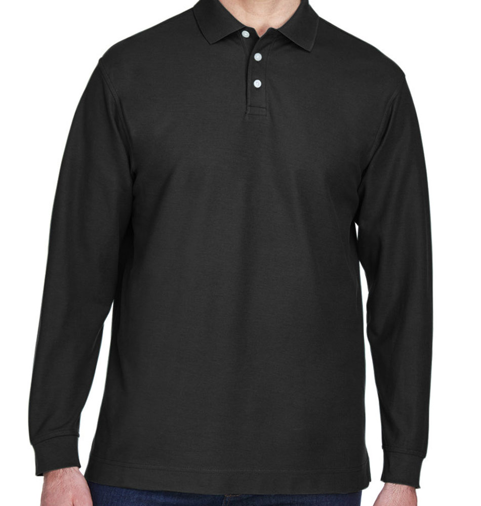 Devon & Jones Men's Long Sleeve Pique Polo