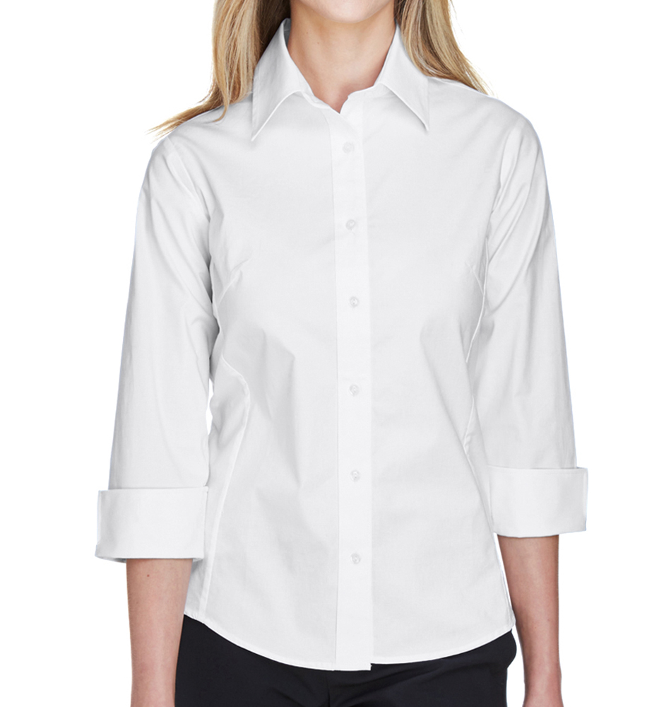 Devon & Jones Perfect Fit™ Women's Quarter Sleeve Button Up