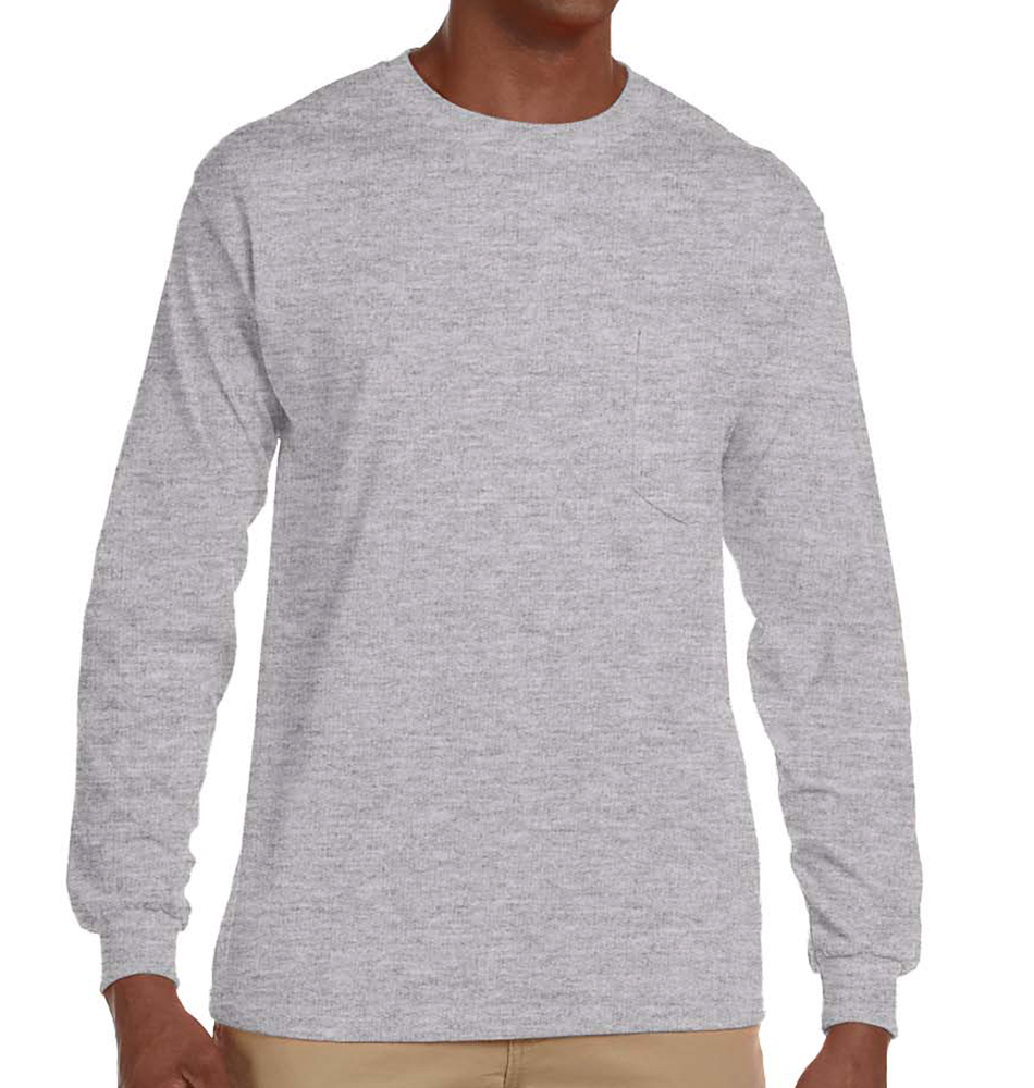 Gildan Long Sleeve Pocket Shirt