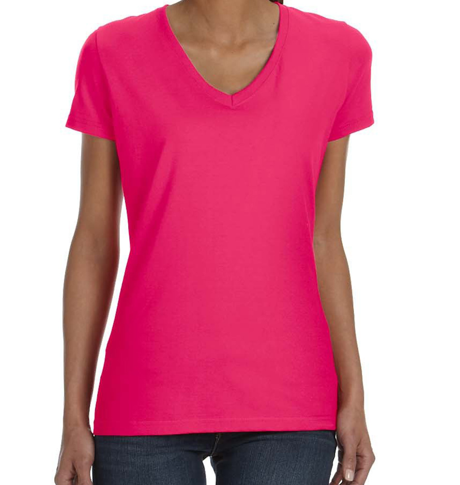Fruit of the Loom Women's V-Neck T-Shirt
