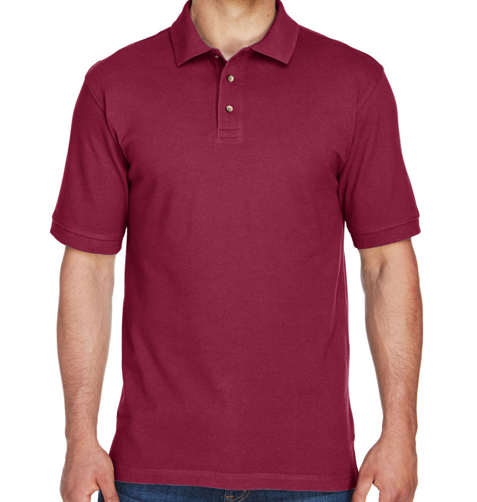 Harriton Ringspun Cotton Pique Polo