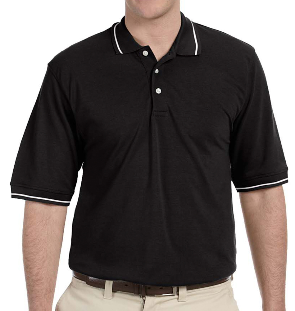 Harriton Tipped Easy Blend Polo