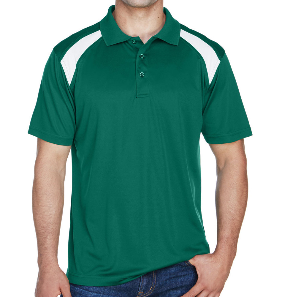 Harriton Color Block Polo