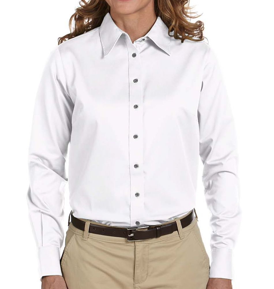 d492c8f7 Harriton Women's Stain Resistant Button Up Shirt. Slide 1 of 3. Carousel  Product; Carousel Product ...