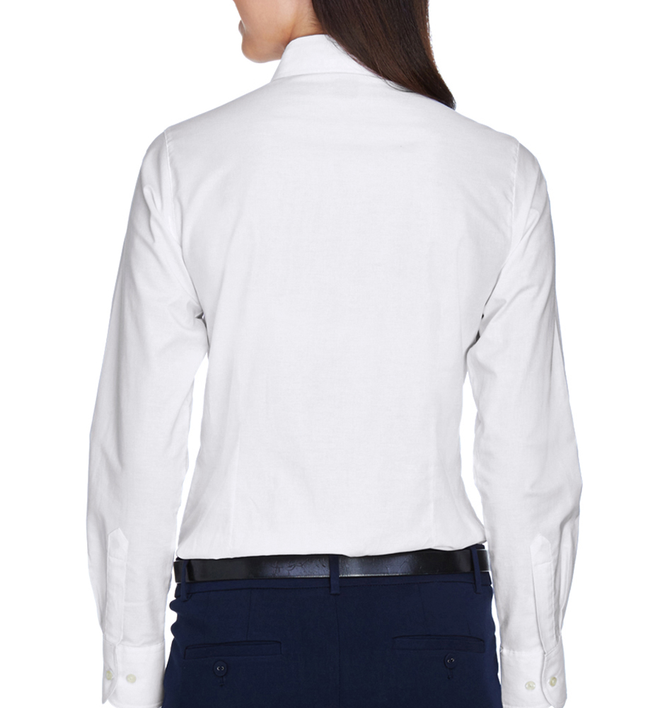 dc36f6a2 Harriton Women's Long Sleeve Oxford Shirt. Slide 1 of 3. Carousel Product; Carousel  Product; Carousel Product
