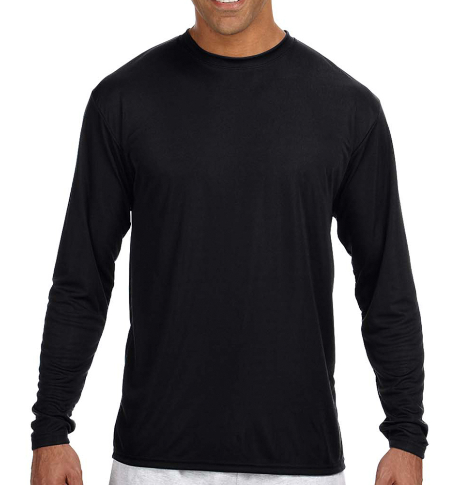 A4 Men's Long-Sleeve Moisture Wicking Shirt