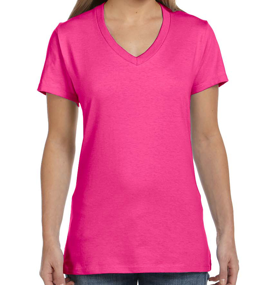 Hanes Nano-T® Women's V-Neck T-Shirt